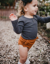 Load image into Gallery viewer, KARIBOU KIDS Willow Long Sleeve Cotton Bodysuit - Pepper