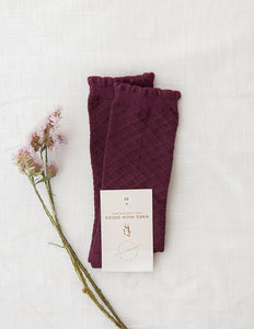 KARIBOU KIDS Picnic Knee-High Socks - Plum