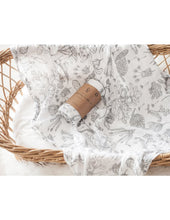 Load image into Gallery viewer, KARIBOU KIDS Organic Cotton Printed Baby Swaddle - Forest Walk