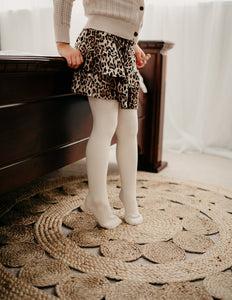 KARIBOU KIDS Classic Ribbed Unisex Tights - Macaroon