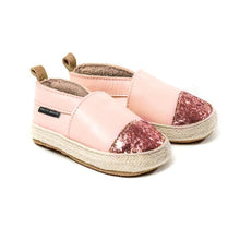 Load image into Gallery viewer, PRETTY BRAVE ESPADRILLE Rose Glitter