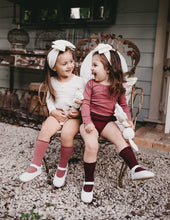 Load image into Gallery viewer, KARIBOU KIDS Picnic Knee-High Socks - Plum