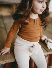 Load image into Gallery viewer, KARIBOU KIDS Willow Long Sleeve Henley Cotton Top - Antique Gold