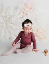 Load image into Gallery viewer, KARIBOU KIDS Willow Long Sleeve Cotton Bodysuit - Garden Rose