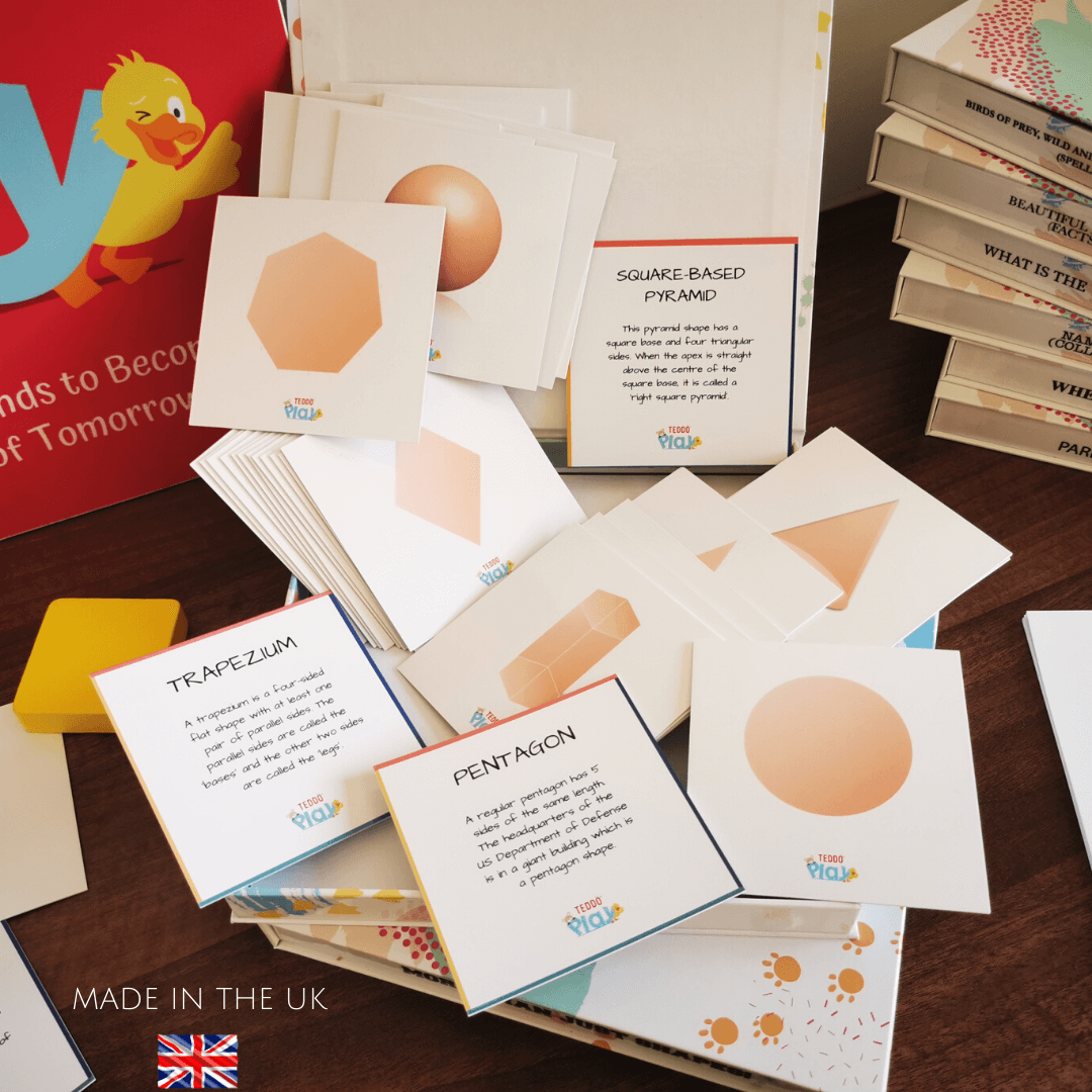 Shapes visual learning cards