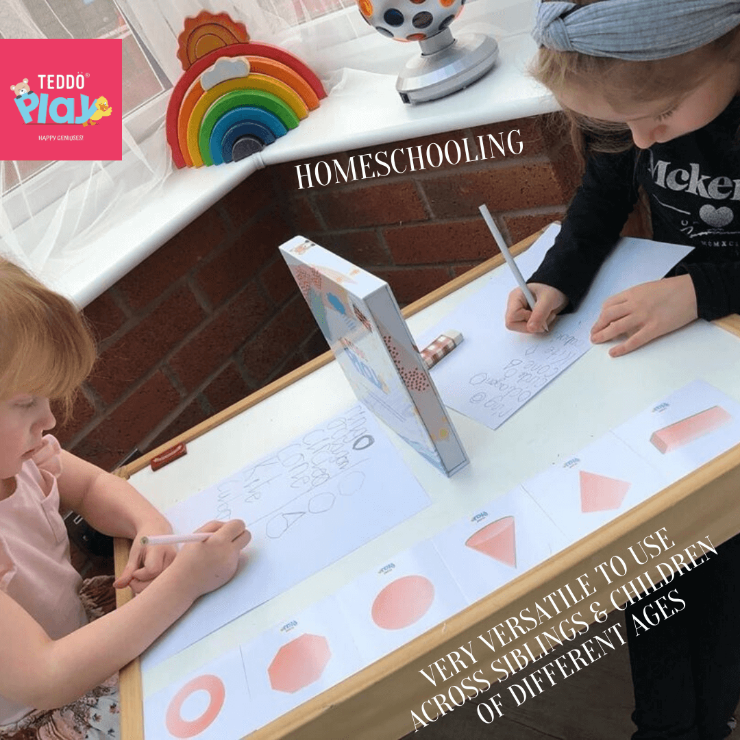 Drawing 3D Shapes Sisters Homeschooling