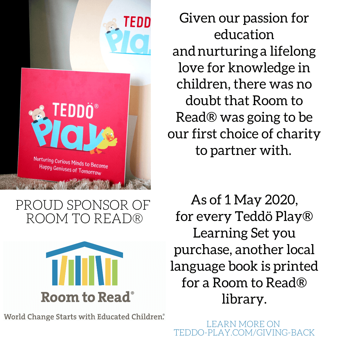 Teddo Play charity partnership with Room to Read