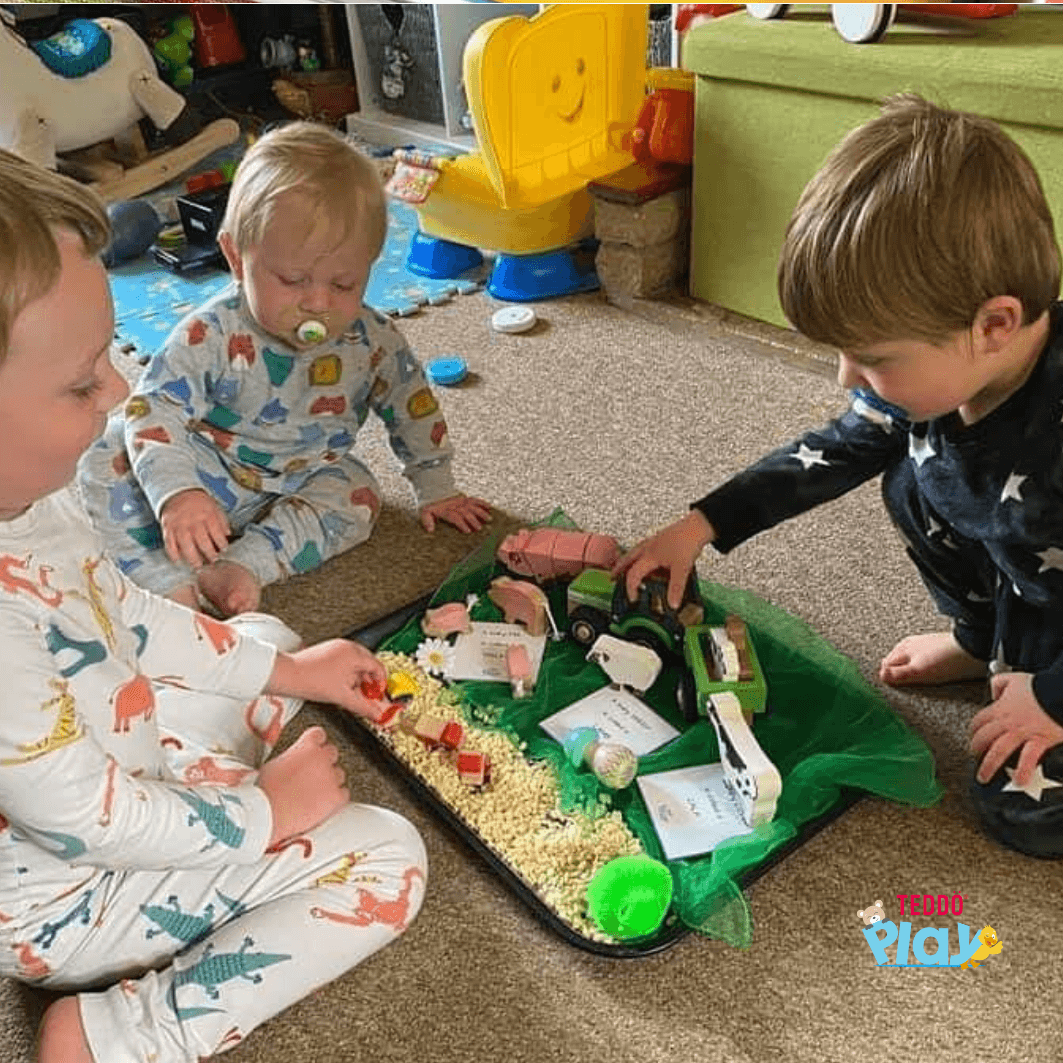 Siblings learn and bond through play