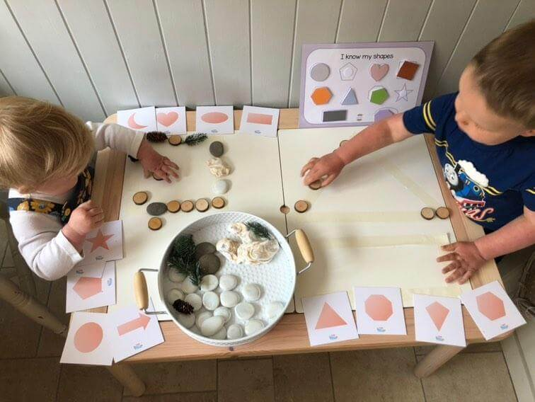 2D 3D shapes resources for toddlers