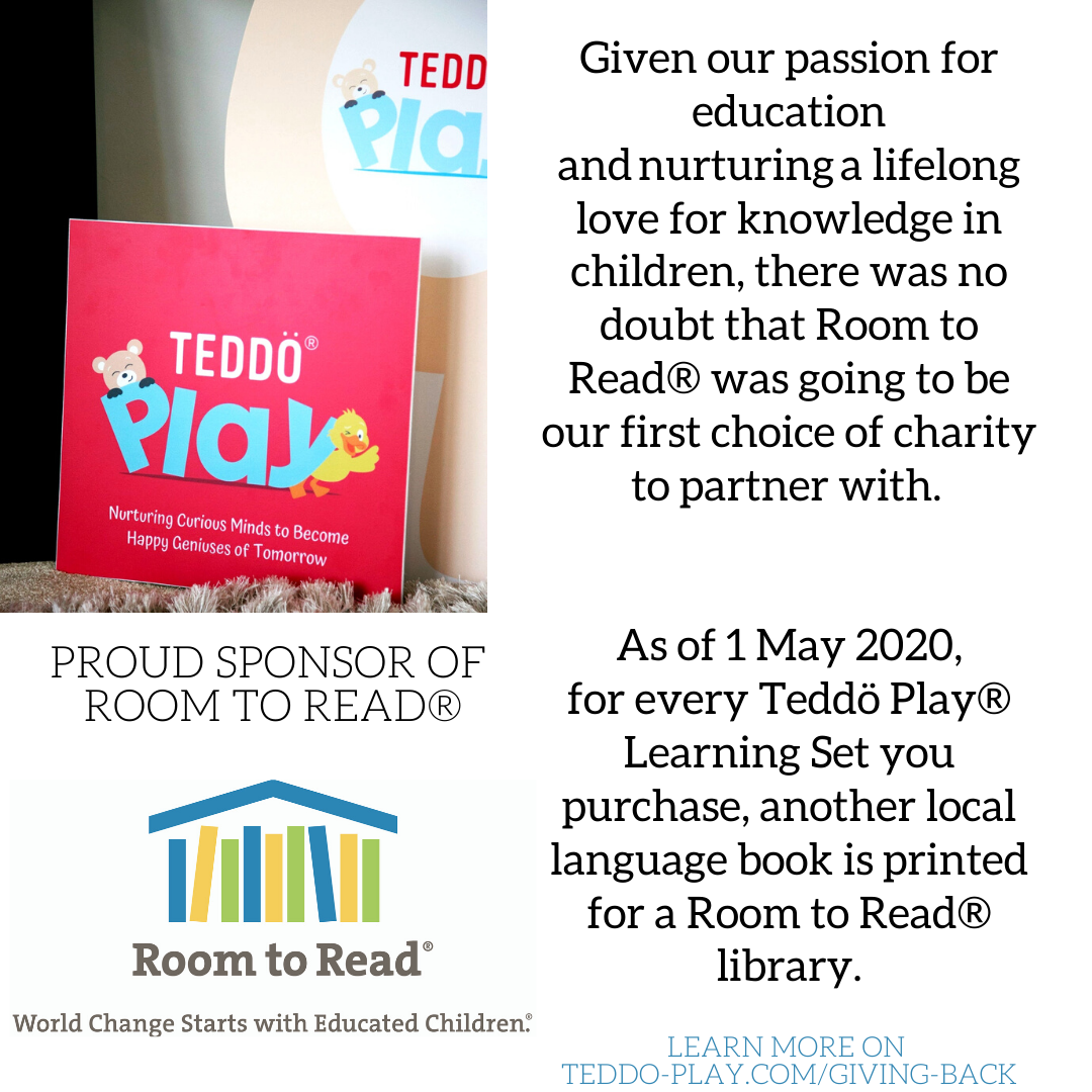 Teddo Play supports children from low-income communities through their partnership with Room to Read charity