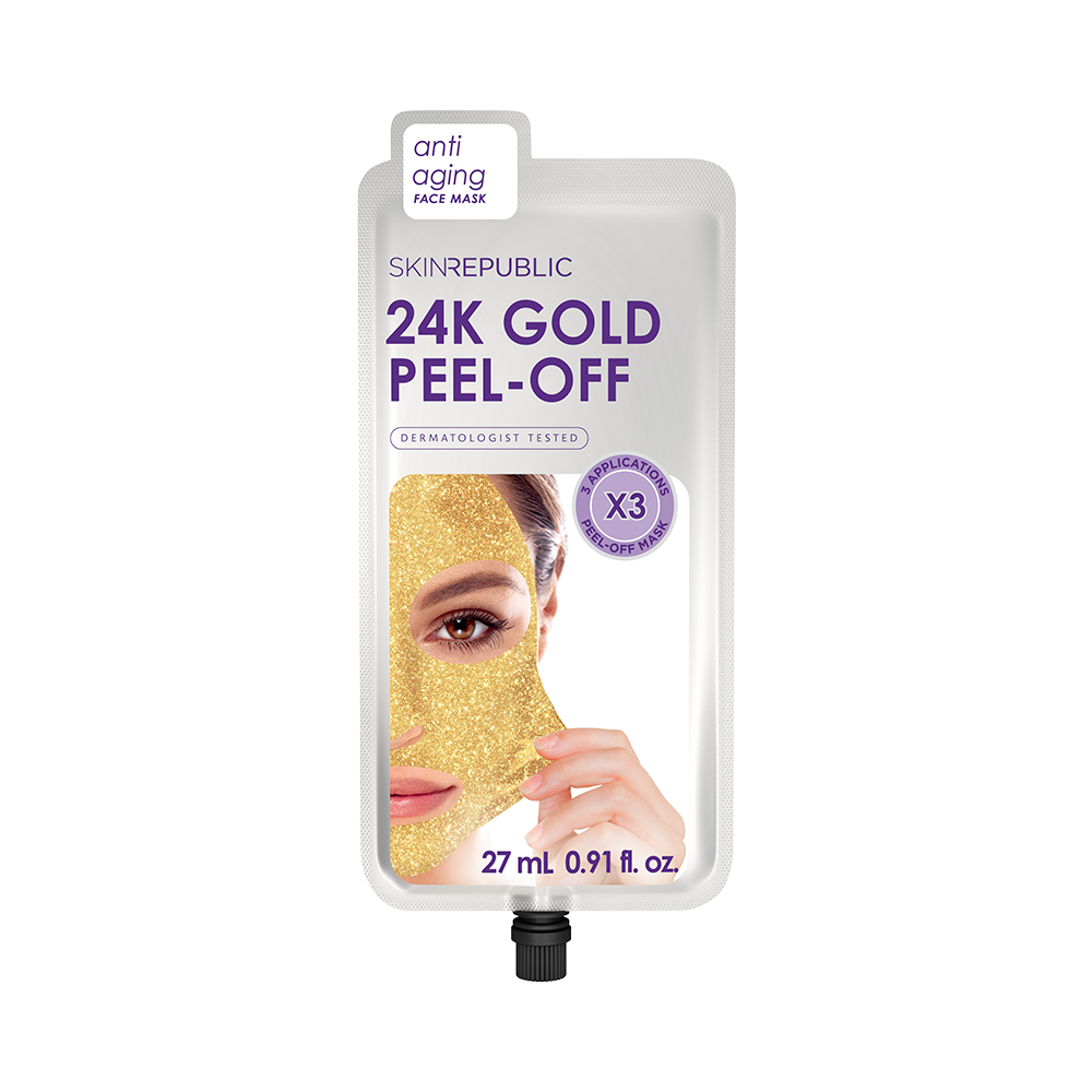 24K Gold Peel-Off Face Mask (3 Applications) - Skin Republic South Africa