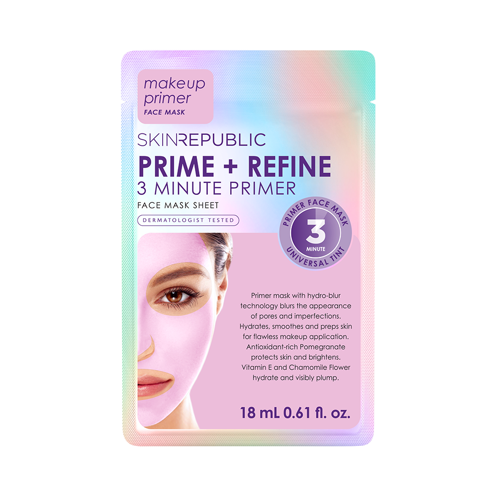 Prime + Refine 3 Minute Primer Face Mask Sheet - Skin Republic South Africa