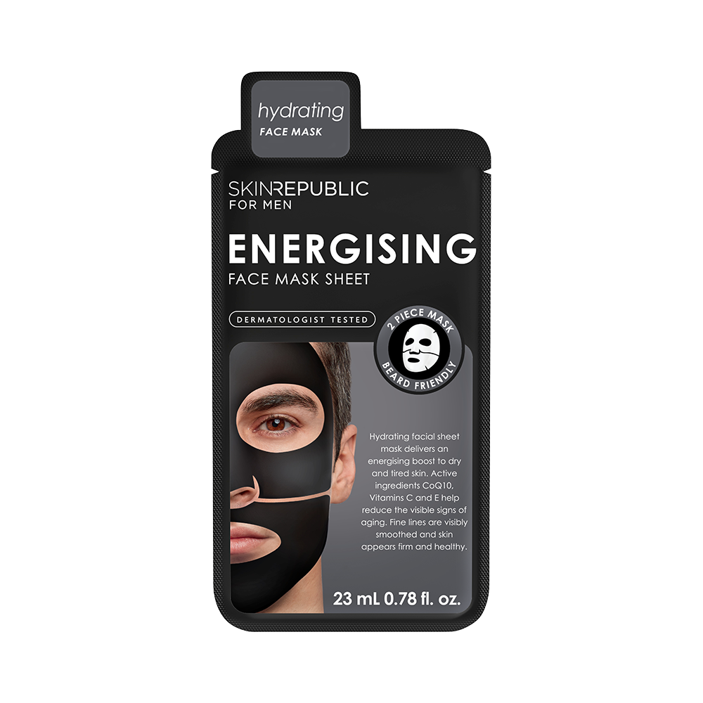 Energising Face Mask Sheet for Men - Skin Republic South Africa
