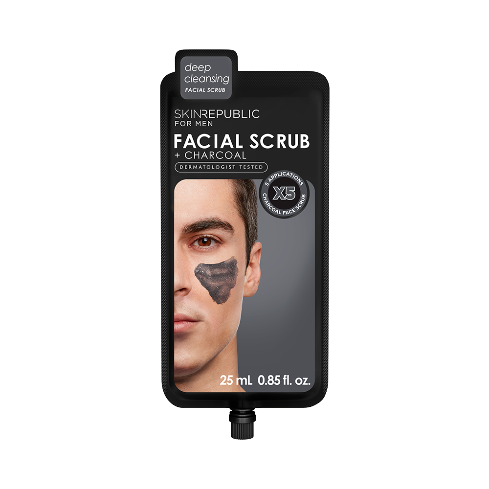 Facial Scrub + Charcoal for Men (5 Applications) - Skin Republic South Africa
