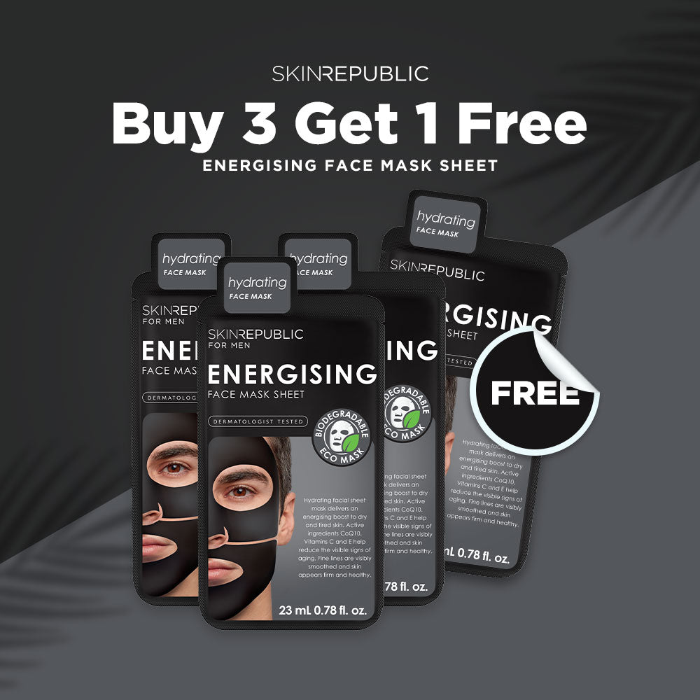 Buy 3 Get 1 FREE - Energising Face Mask Sheet