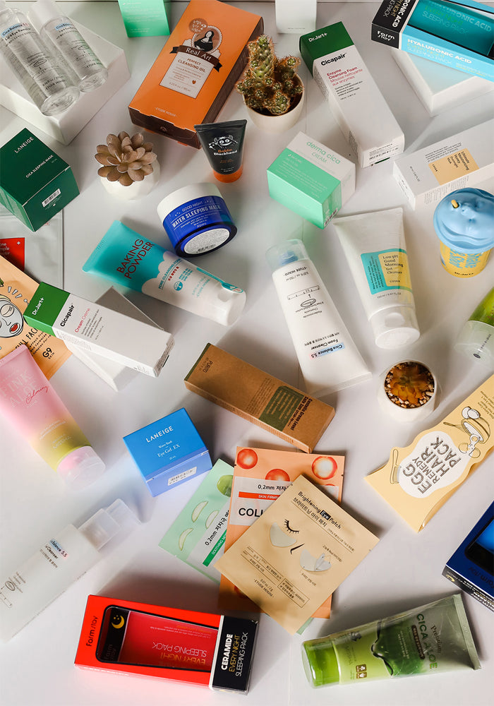 Collection of K-Beauty Products
