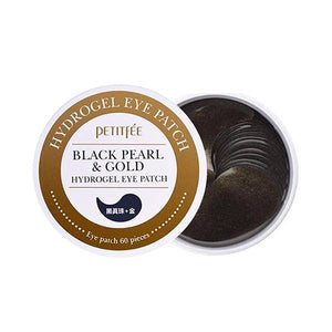 Black Pearl and Gold Hydrogel Eye Patches