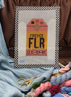 Firenze Retro Travel Tag Needlepoint Canvas