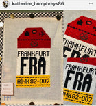 Frankfurt Retro Travel Tag Needlepoint Canvas