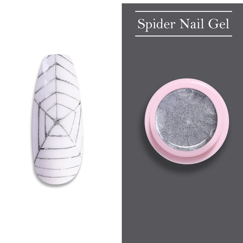 UR SUGAR 7ml Glitter Spider Nail Gel Polish Wire Elastic Drawing Painting UV Gel Soak Off Pulling Silk Spider Nail Art varnish