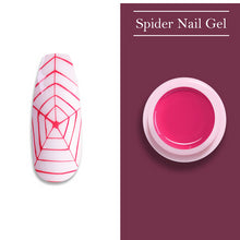Load image into Gallery viewer, UR SUGAR 7ml Glitter Spider Nail Gel Polish Wire Elastic Drawing Painting UV Gel Soak Off Pulling Silk Spider Nail Art varnish
