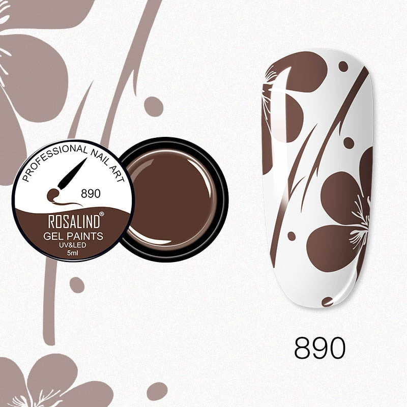 ROSALIND Nail Gel 5ml (RF890)