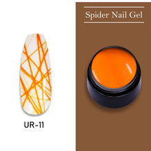 Load image into Gallery viewer, UR SUGAR Scarlet Orange Nail Spider Gel Polish 7ml