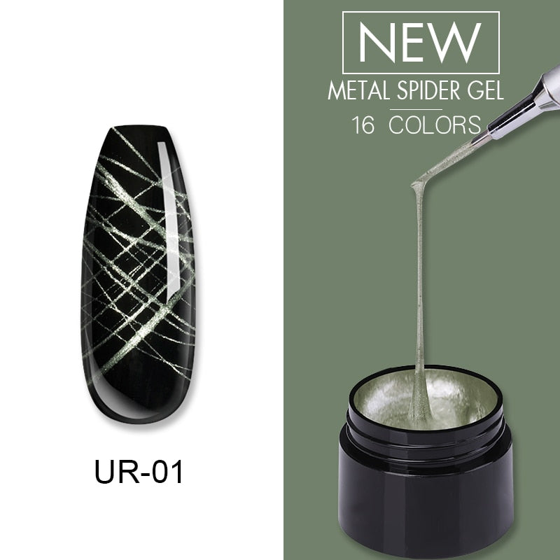 UR SUGAR Cadet Gray Nail Metal Spider Gel Polish 7ml