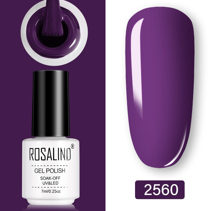 ROSALIND Gel Nail Polish 7ml  (2560)