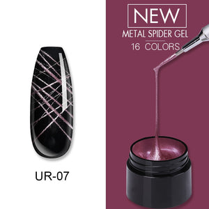 UR SUGAR Mulberry Purple Nail Metal Spider Gel Polish 7ml