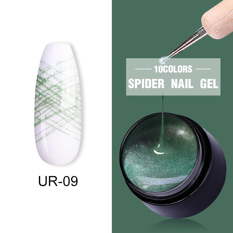 UR SUGAR Hunter Green Nail Spider Gel Polish 7ml