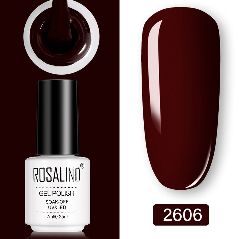 ROSALIND Gel Nail Polish 7ml  (2606)