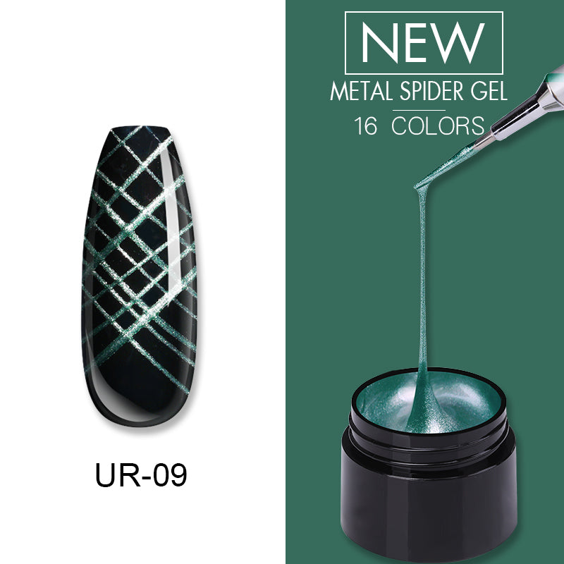 UR SUGAR British Racing Green Nail Metal Spider Gel Polish 7ml