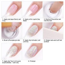 Load image into Gallery viewer, NICOLE DIARY Glitter Dip Nail Powder 10g