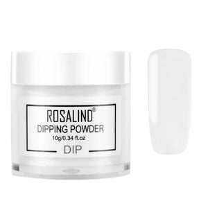 ROSALIND Nail Holographic Powder Dust Dipping Powder without Lamp Cured 10g Natural Dry Nail Art Decorations Manicure Glitter