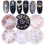 Mixed Color Nail Rhinestones Stones AB Color Rhinestone Irregular Beads  For Nails Art Decorations Crystals Accessories