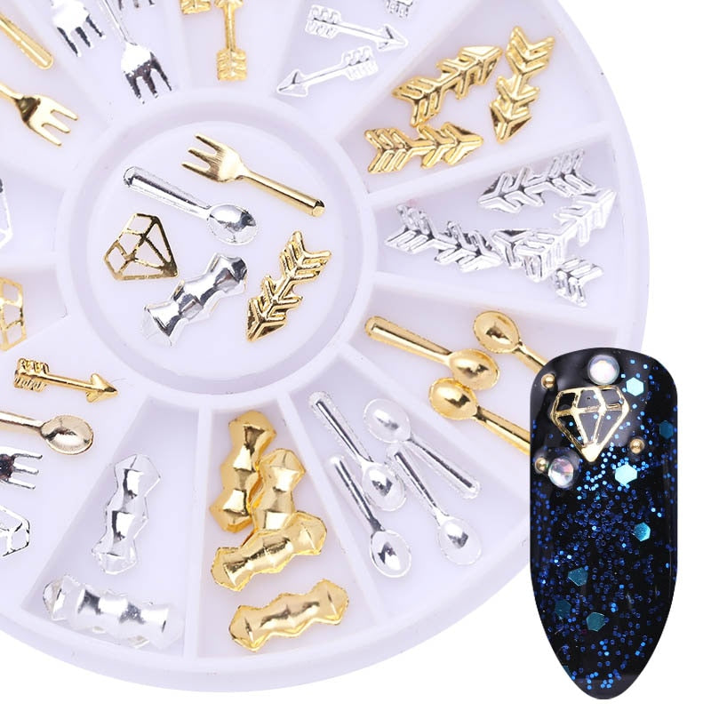 GLITZ Mixed Glyphs and Symbols Jeweled Nail Art