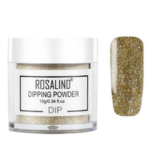 Load image into Gallery viewer, ROSALIND Nail Holographic Powder Dust Dipping Powder without Lamp Cured 10g Natural Dry Nail Art Decorations Manicure Glitter