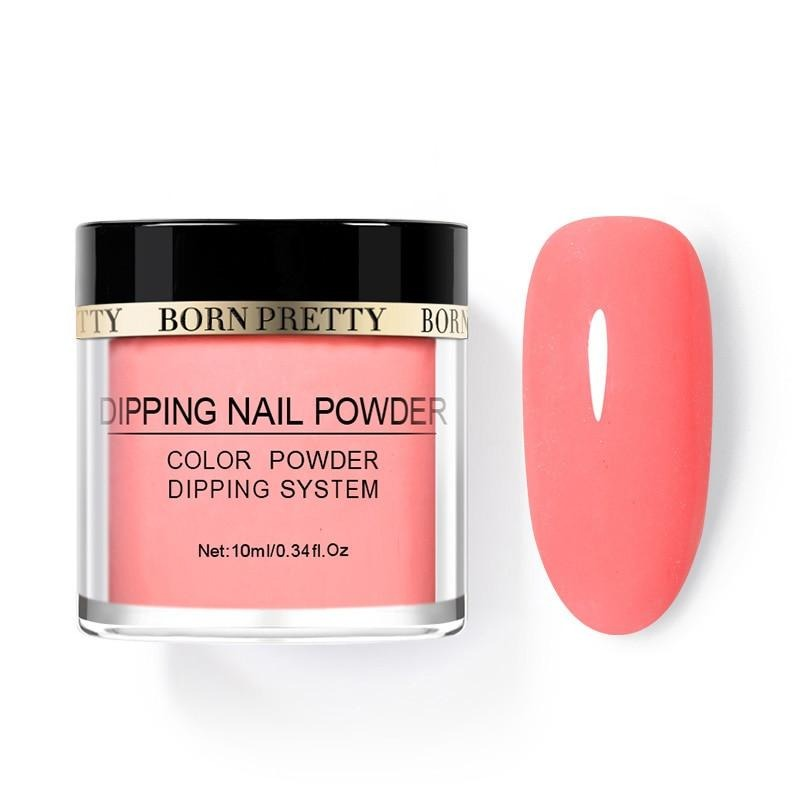 BORN PRETT Fluorescence Dipping Nail Powder 10ml Dip Nail Powder Pigment Dust Natural Dry Nail Art Decoration Glow in uv light