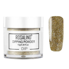 Load image into Gallery viewer, ROSALIND Dip Powder Nail Art Polish Gradient Shining Chrome Pigment Dipping Powder Set Holographic Glitter Nail Flakes Sequins