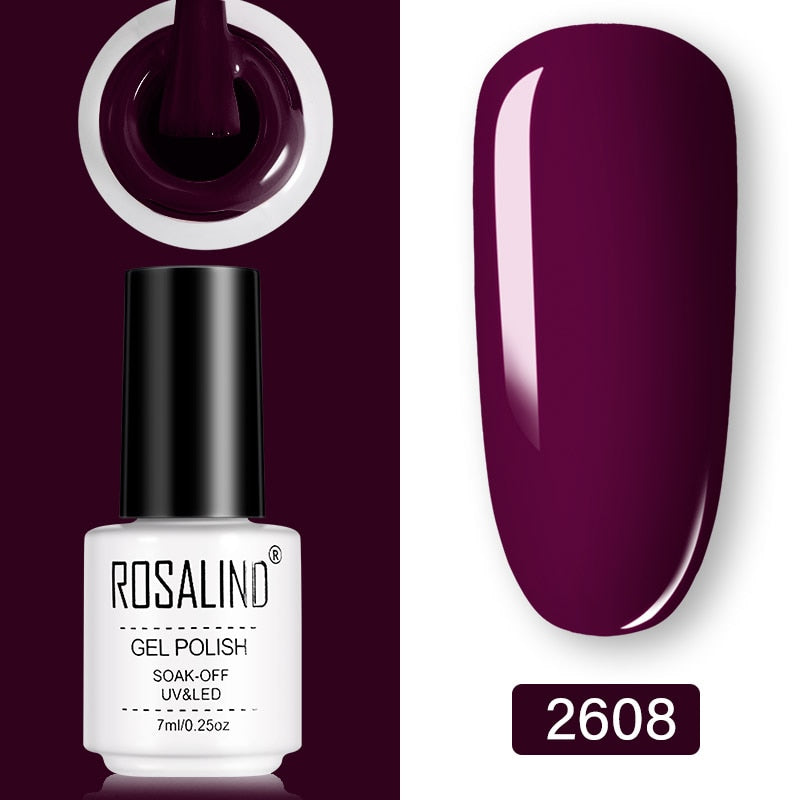 ROSALIND Gel Nail Polish 7ml  (2608)