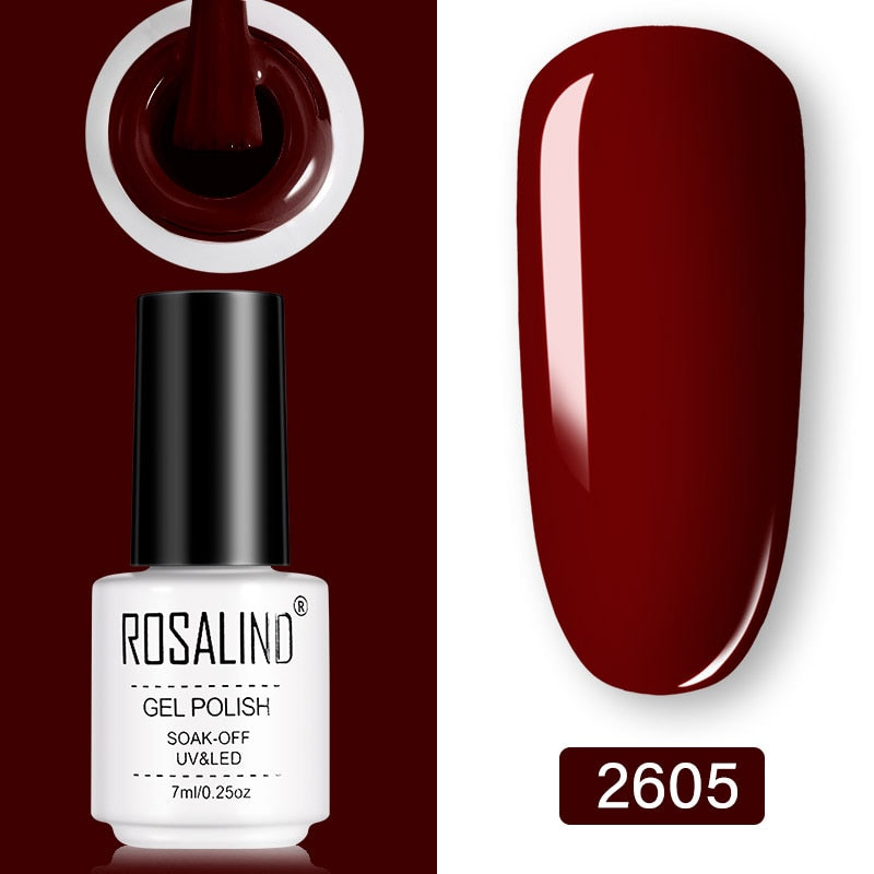 ROSALIND Gel Nail Polish 7ml  (2605)