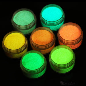UR SUGAR 5ml Fluorescence Dip Nail Powder 3 IN 1 Acrylic Powder Nail Decoration Glow In Dark Natural Dry Without Lamp Cure