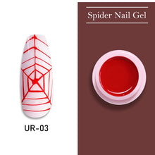 Load image into Gallery viewer, UR SUGAR Candy Apple Red Nail Spider Gel Polish 7ml