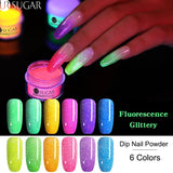 UR SUGAR 5ml Fluorescence Neon Dip Nail Powder  Gradient Glitter Pigment Dipping Nail Powder Nail Art Decoration DIY