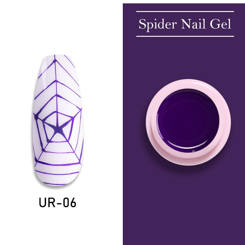 UR SUGAR Northwestern Purple Nail Spider Gel Polish 7ml