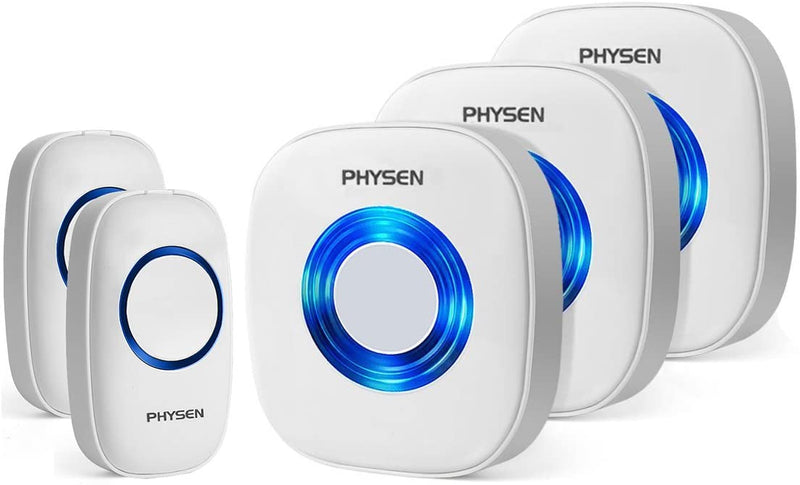physen 3 plug in receiver 2 transmitter wireless doorbell