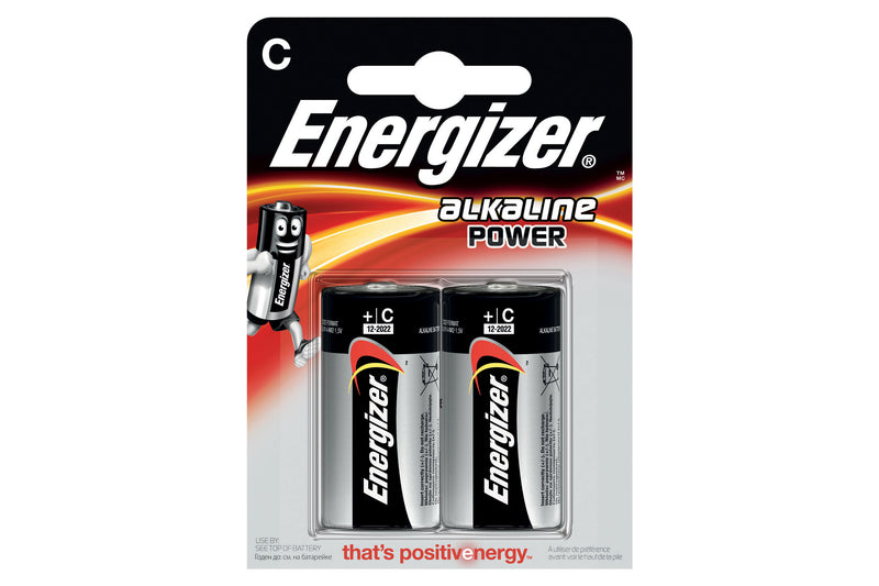 Energizer LR14 Max Power Alkaline C Batteries - Pack of 2