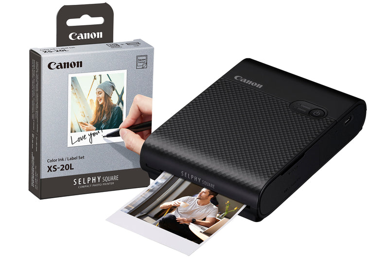 Canon Selphy Square QX10 Instant Photo Printer includng 20 Shots - Black