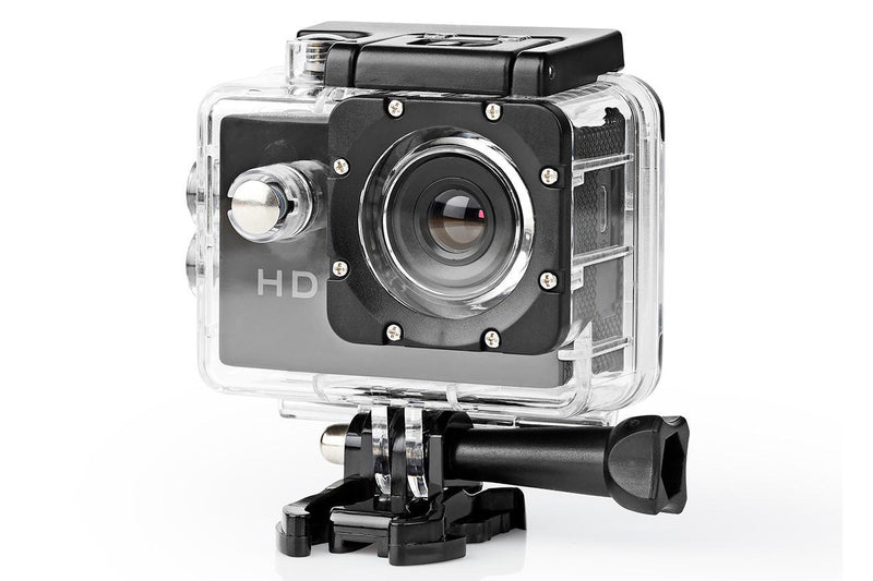 Nedis Action Cam HD 720p Waterproof Case Full Mounting Kits